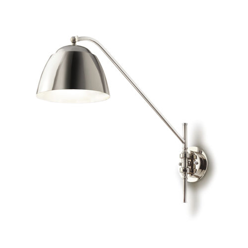 contemporary wall light / chromed metal / LED / for hotels