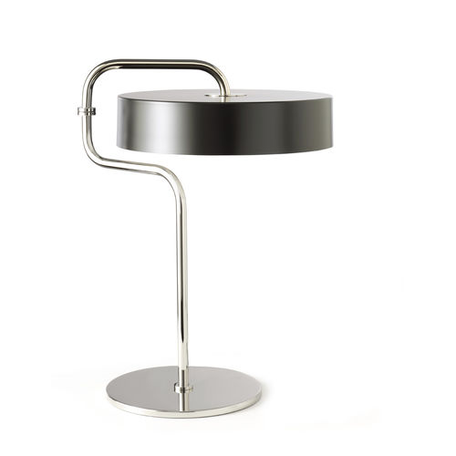 table lamp / contemporary / chromed metal / painted metal