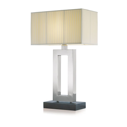 table lamp / contemporary / brass / chrome