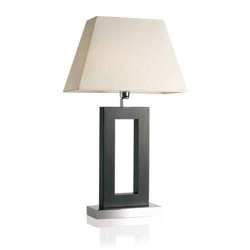 table lamp / contemporary / chromed metal / fabric