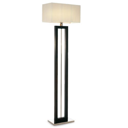 floor-standing lamp / contemporary / chromed metal / fabric