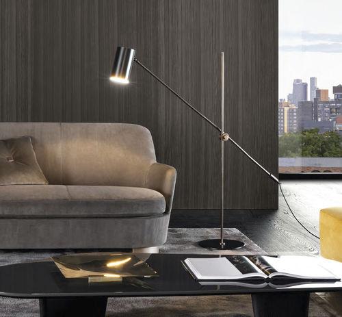 floor-standing lamp / original design / brass / painted metal