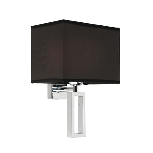 contemporary wall light / chromed metal / textile / LED