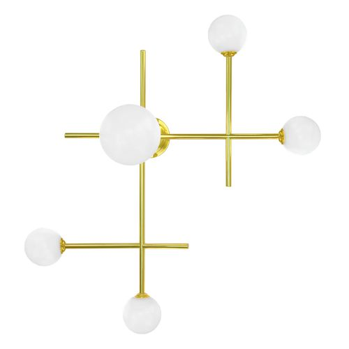 contemporary wall light / brass / incandescent / LED