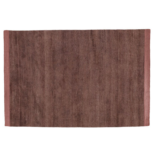 contemporary rug / plain / silk / cotton