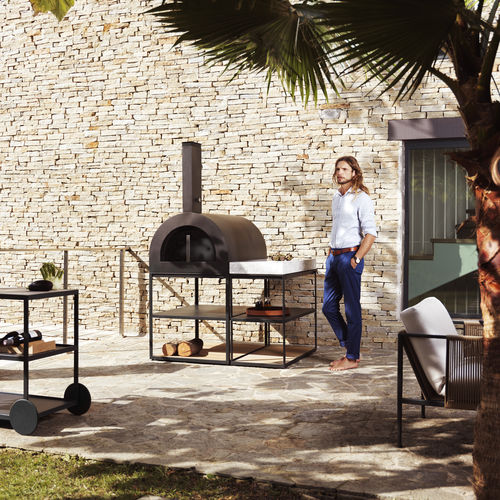 wood-burning oven / pizza / single-chamber / garden