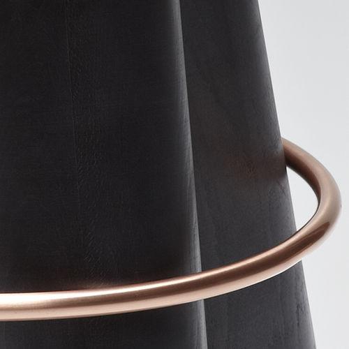 original design stool / beech / solid wood / metal