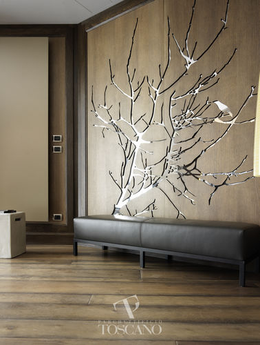 wood decorative panel / for interior