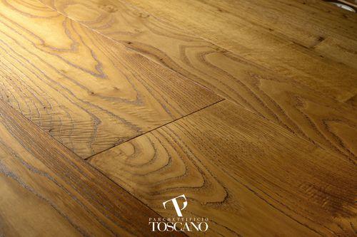 engineered parquet floor / glued / chestnut / oiled