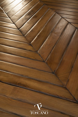 engineered parquet floor / glued / cherrywood / oiled