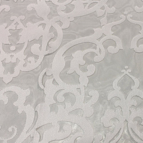 patterned sheer curtain fabric / viscose / polyester / home
