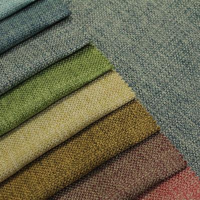 curtain fabric / plain / polyester