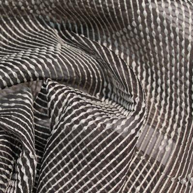striped sheer curtain fabric