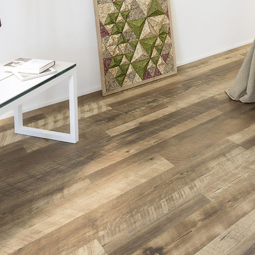 HDF laminate flooring / floating / wood look / tertiary