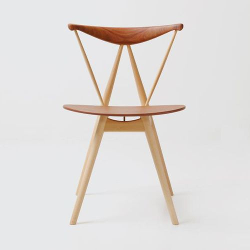 Scandinavian design chair / solid wood / laminate