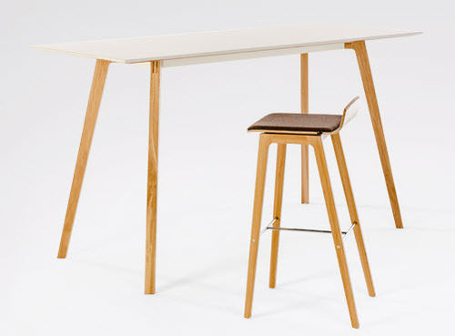 contemporary bar stool / wooden / commercial