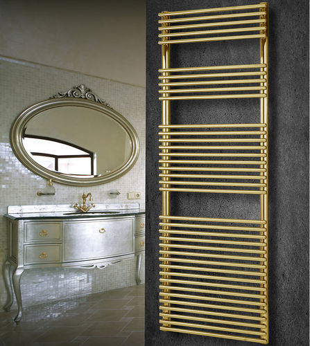 hot water towel radiator / steel / contemporary / wall-mounted