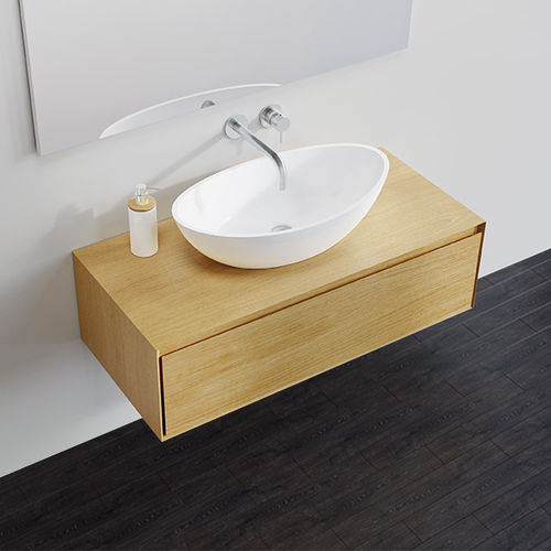 wall-mounted chest of drawers / contemporary / oak / MDF