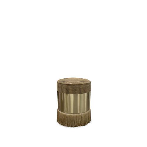 traditional pouf / fabric / brass
