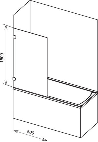 fixed bath screen