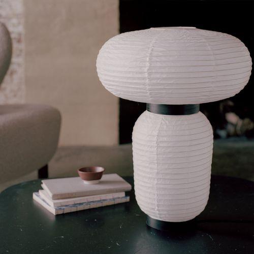 table lamp / contemporary / oak / paper