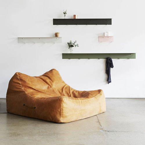 contemporary bean bag / leather