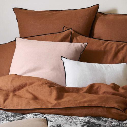 upholstery fabric / plain / polyester / linen