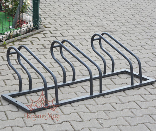 powder-coated steel bike rack / for public spaces