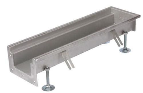 stainless steel drainage channel / with grating / for public spaces