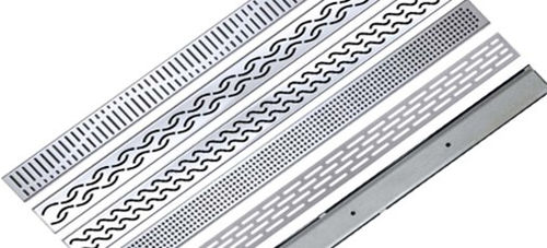 stainless steel floor drain / grated / square