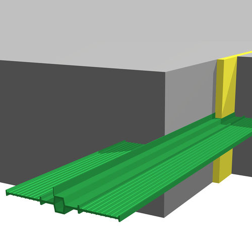 PVC-P expansion joint / for floors