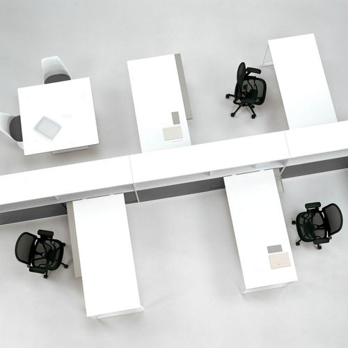 workstation desk / steel / aluminium / HPL