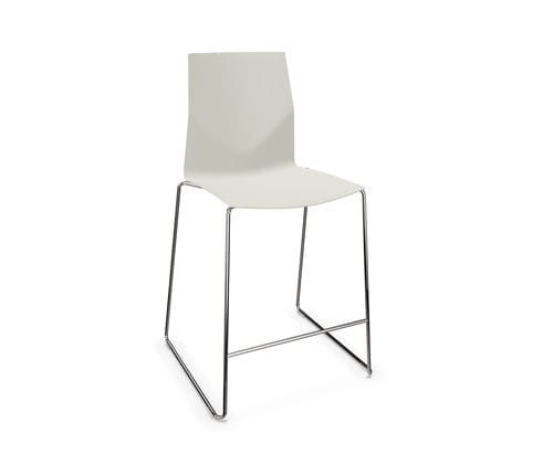 contemporary bar chair / upholstered / sled base / stackable