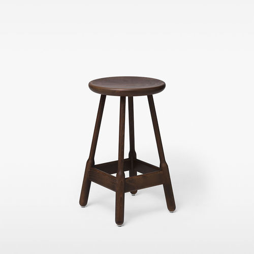 contemporary bar stool / oak / beech / walnut
