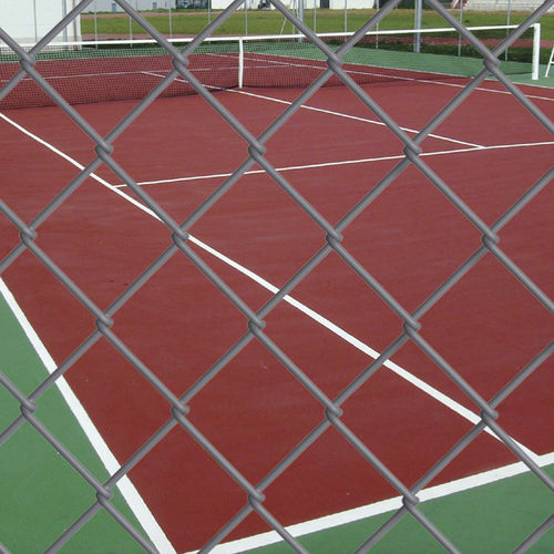 athletic field fence / wire mesh / zinc