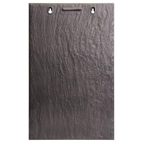 flat roof tile / clay / black / slate look