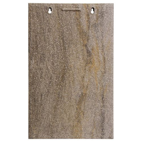 flat roof tile / clay / gray