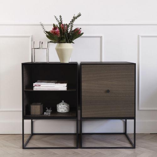 low shelf / contemporary / MDF / wood veneer