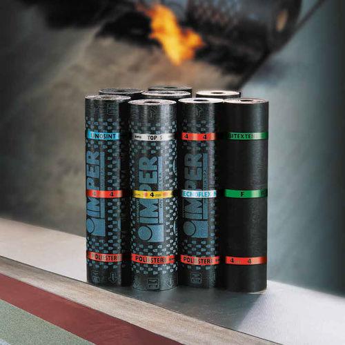 flat roof waterproofing membrane / roll / with vapor barrier / elastomer