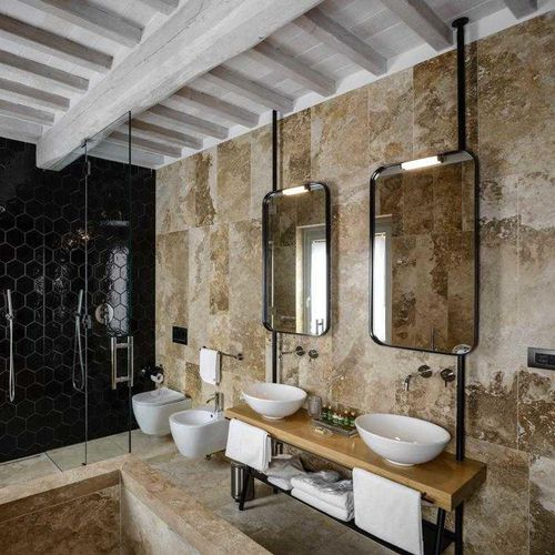 travertine wallcovering
