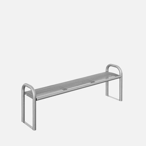 public bench / contemporary / galvanized steel / stainless steel