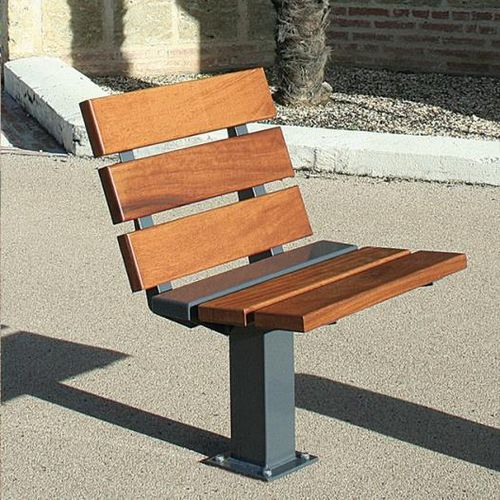 wooden urban armchair