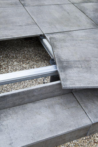 Aluminum Raised Access Floor Structure Bera Terrace Sub Base Bera B V Outdoor Adjustable
