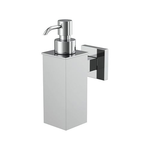 commercial soap dispenser / wall-mounted / chrome-plated brass / manual