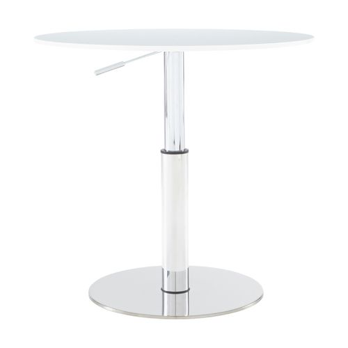 contemporary table / walnut / tempered glass / chrome steel