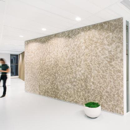 natural fiber decorative panel / HPL / for interior / textured