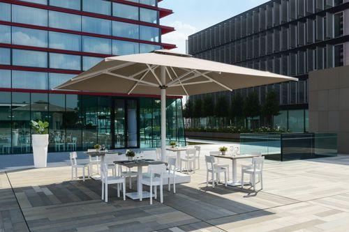 commercial patio umbrella / acrylic fabric / aluminum / zinc-plated steel