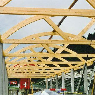 wooden roof truss / glulam / prefab