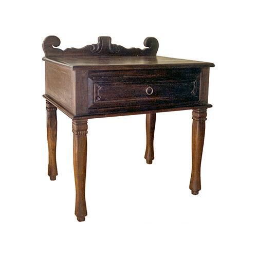 contemporary side table / teak / mahogany / rectangular
