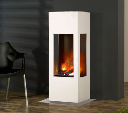 electric heating stove / contemporary / 3-sided / aluminum
